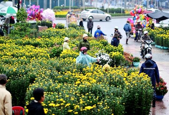Người ta quan niệm sự rực rỡ và hương thơm của hoa sẽ cho một năm mới nhiều điều tốt đẹp. (Ảnh Internet)