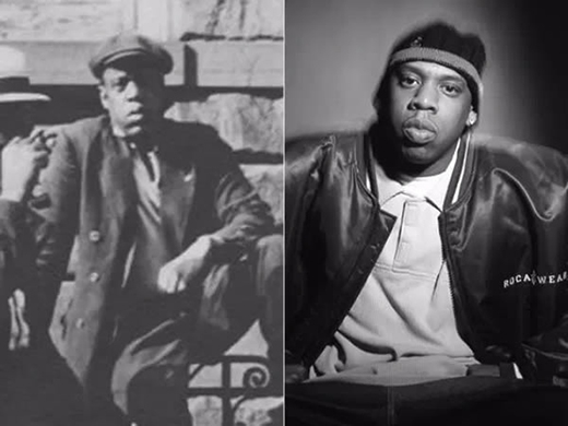 Bức ảnh bên trái được tìm thấytrongTrung tâm Thư viện Schomberg của New York, chụp vàonăm 1933. Người đàn ông trong ảnh rất giống vớirapper nổi tiếng Jay-Z (ảnh phải).(Ảnh: Internet)