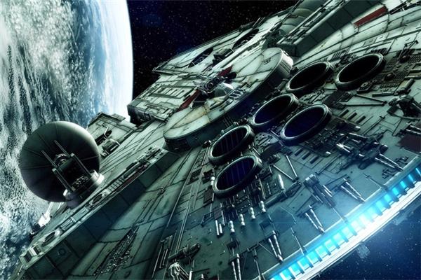 Tàu vũ trụ Millennium Falcon trong bộ phim bom tấn Star Wars 1.
