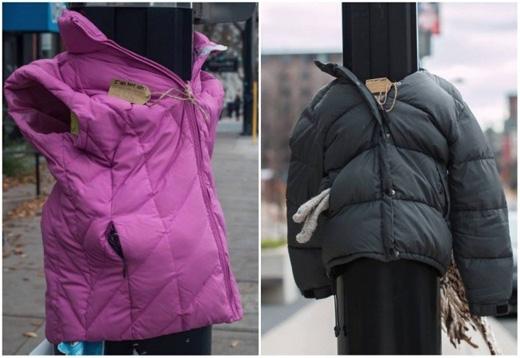 Những chiếc áo ấm như thế này được tặng cho những người vô gia cư ở Canada vào mùa đông. (Ảnh: Internet)