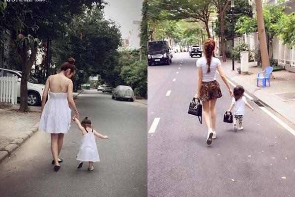 So sánh ảnh chụp từ phía sau của Elly Trần mới đây (phải) và vào đầu tháng 7/2015 (trái), vòng 2 của Elly Trần trông có vẻ không được thon gọn như bây giờ. - Tin sao Viet - Tin tuc sao Viet - Scandal sao Viet - Tin tuc cua Sao - Tin cua Sao