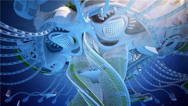 Mỗi công trình đều cầu kì và công phu như bước ra từ phim khoa học viễn tưởng.(Ảnh: CNN)
