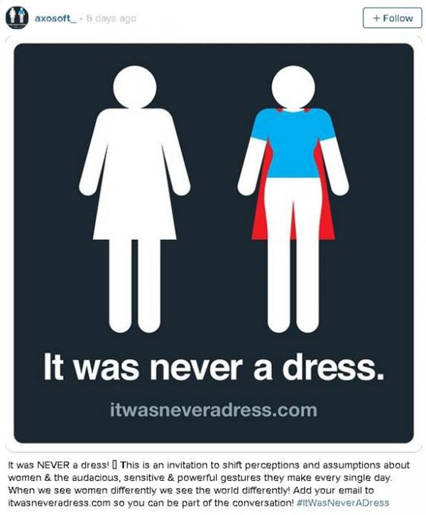 """Thiết kế này của Axosoft khẳng định phụ nữ là những """"siêu nhân"""". (Ảnh: Internet)"""