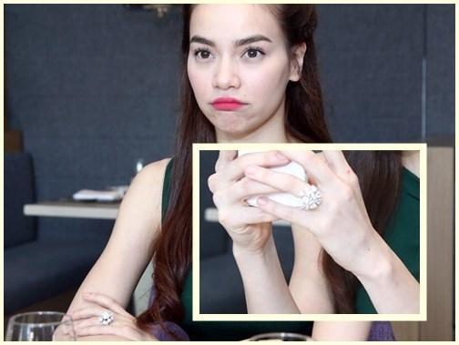 Hồi tháng 4 năm ngoái, Hồ Ngọc Hà từng khoe chiếc nhẫn kim cương khá lớn trên ngón áp út bàn tay trái. - Tin sao Viet - Tin tuc sao Viet - Scandal sao Viet - Tin tuc cua Sao - Tin cua Sao