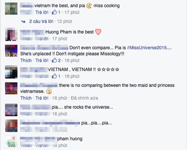 """Hoa hậu Hoàn vũ 2015 liên tục """"đụng hàng"""" với Phạm Hương"""
