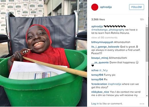 Tấm ảnh cô đăng lên Instagram để xin thông tin về Rahma.(Ảnh: Internet)