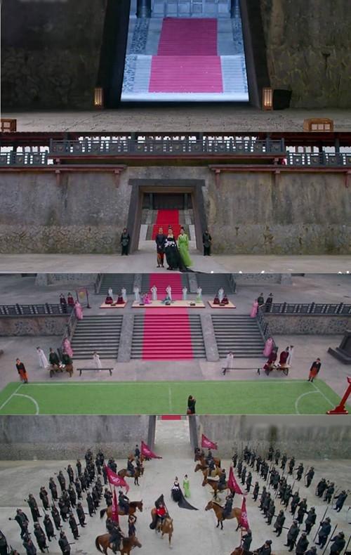 Cả hoàng cung rộng lớn chỉ có lác đác vài bóng người. Nhiều diễn viên quần chúng bị chấn thương vẫn phải có mặt ở phim trường