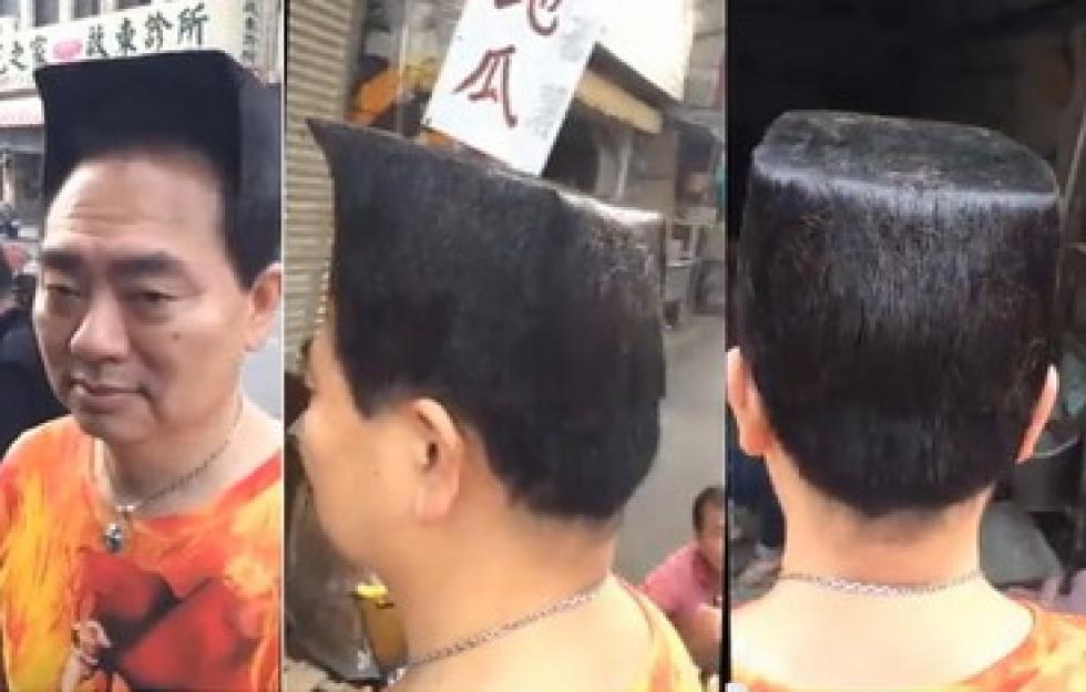 Các góc hình cận cảnh mái tóc ông Wu Lei. (Ảnh: Internet)