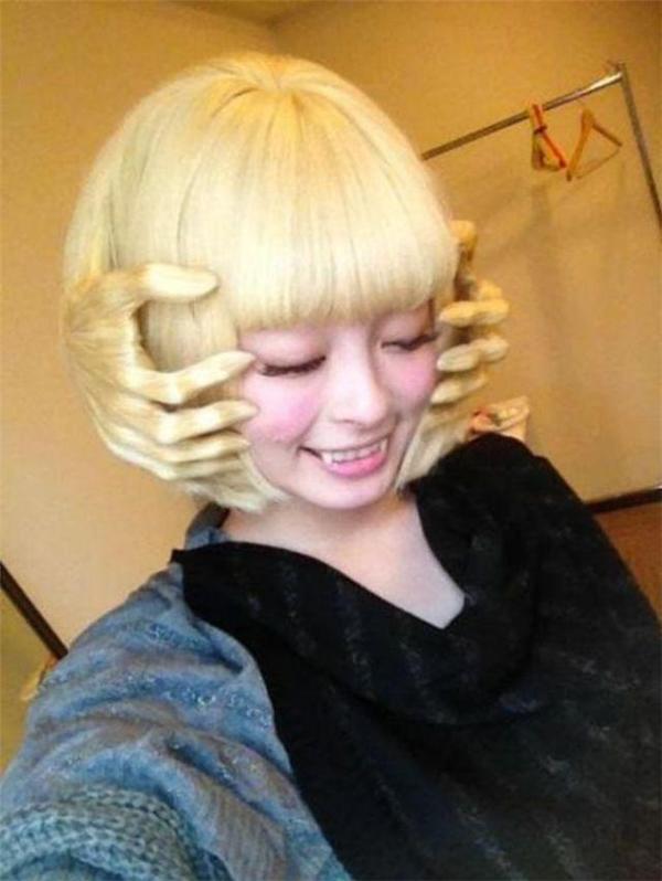Cô gái có tạo hình tóc đầy ấn tượng. (Ảnh: Internet)