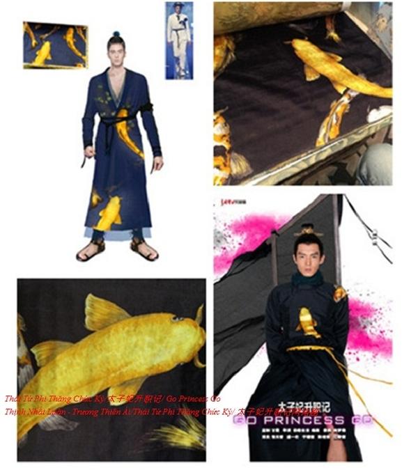 Bộ trang phục in hình cá chép vàng của thái tử Tề Thịnh cũng được được xếp vào hàng xa xỉ nhất đoàn làm phim. Tuy nhiên loại vải này lại là vải may rèm chứ không phải may quần áo như mọi người vẫn tưởng.