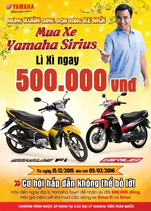 Chiêm ngưỡng xe số đáng mua nhất dịp tết - Yamaha Sirius 2016