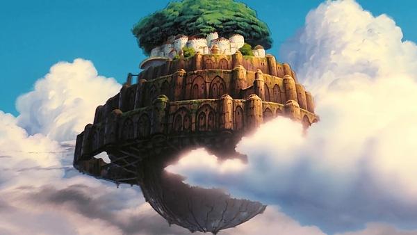 """6. """"Laputa: Castle in the Sky"""" ra mắt vào năm 1986, kể về thành phố Laputa lơ lửng trên bầu trời."""