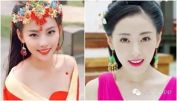Khi được xếp cạnh mỹ nữ Trương Gia Nghê của Quỳnh Dao, Trương Thiên Ái cũng không hềkém cạnh. Đặc biệt là phần mũi và miệng, giống nhau như 2 chị em ruột.