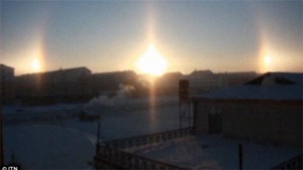 """""""Mặt trời ảo"""" tại Mông Cổ. (Ảnh: Internet)"""
