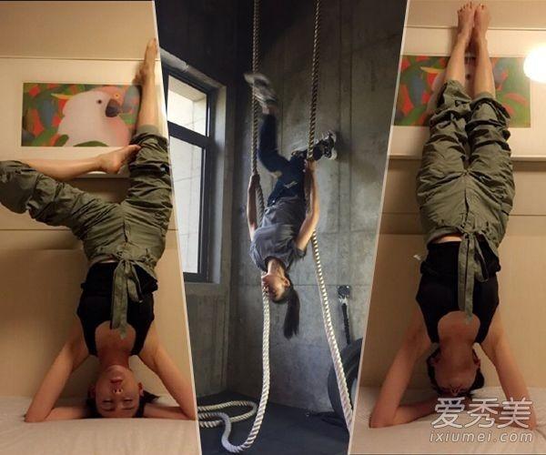 Trương Thiên Ái những năm gần đây dành phần lớn thời gian trong ngày tập yoga.