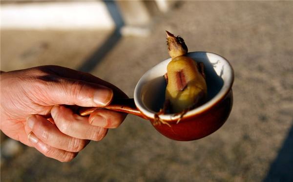 Nguyên nhân gây tranh cãi về món ăn này không chỉ đơn giản nằm ở sự khan hiếm của chim họa mi ở Pháp mà còn ở cách chế biến rất tàn nhẫn.(Ảnh: Internet)