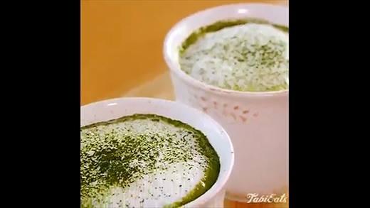 Tự tay làm latte trà xanh sô cô la cực ngon