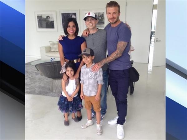 Tan chảy trước hành động đẹp của Beckham gửi cô bé ung thư