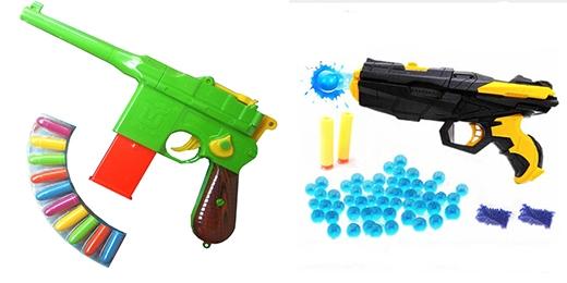 """Khẩu súng đồ chơi bằng nhựa lại chính là """"hung khí"""" tổn thương vĩnh viễn đến một bé trai 6 tuổi. (Ảnh: Internet)"""
