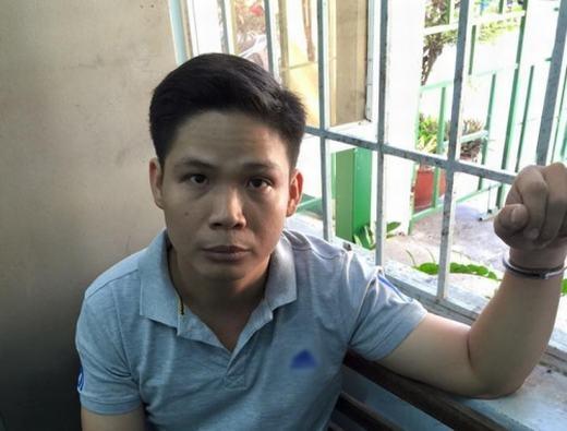 Nghi can Nguyễn Tuấn Anh tại cơ quan công an