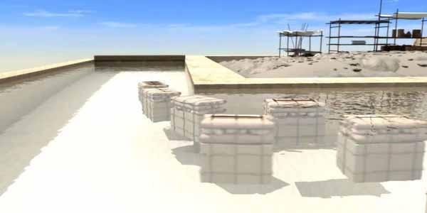 Các khối đá sẽ được di chuyển vào các đường dẫn nước. (Ảnh: Internet)