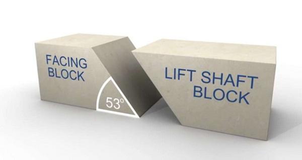 Với góc 53 độ sẽ đảm bảo các đường dẫn nước không quá dốc, có thể vận chuyển các khối đá lên cao. (Ảnh: Internet)