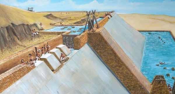 Toàn cảnh một trong những cửa khẩu của Kim tự tháp. (Ảnh: Internet)
