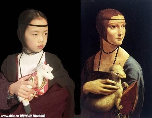 """""""Nàng Cecilia Gallerani"""" của Leonardo da Vinci. (Ảnh:China Daily)"""