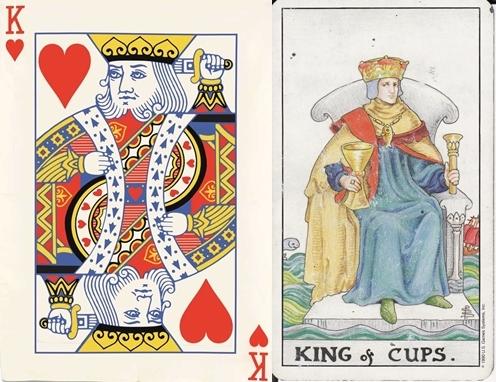 Quân già cơ có nguồn gốc từ quân bài King Of Cup trong bài tarot. (Ảnh: Internet)