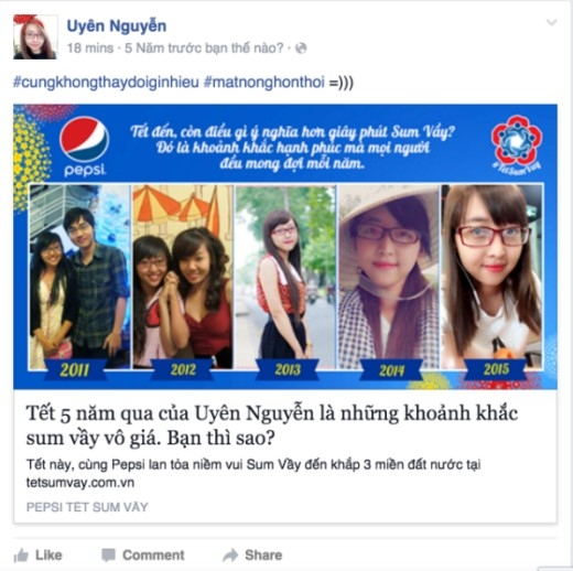"""""""Facebooker"""" Uyên Nguyễn cảm thán: """"Cũng không thay đổi gì nhiều, mặt nọng hơn thôi."""""""
