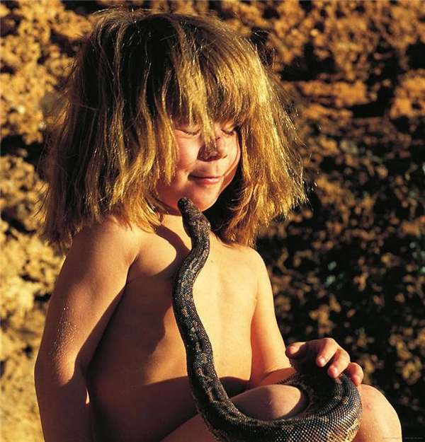 Ngay cả rắn cũng xem Tippi là bạn. (Ảnh: Internet)