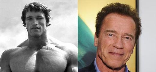 Arnold Schwarzenegger (68 tuổi) từ ngày trẻ đã có thân hình vạm vỡ, lực lưỡng.(Ảnh: Internet)