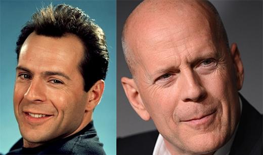 Bruce Willisnhững ngày còn trẻ với mái tóc cực quyến rũ. Ởtuổi 60, trông ông vẫn cực kì phong độ.(Ảnh: Internet)