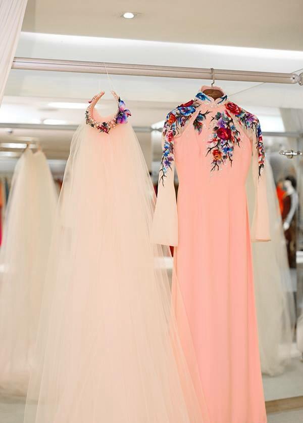 Cận cảnh chiếc áo dài cưới hồng dịu dàng, thanh nhã của Trang Nhung - Tin sao Viet - Tin tuc sao Viet - Scandal sao Viet - Tin tuc cua Sao - Tin cua Sao