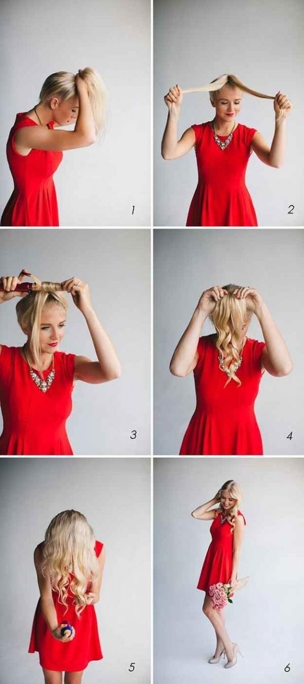 Các bước tạo tóc dợn sóng. (Ảnh: Internet)
