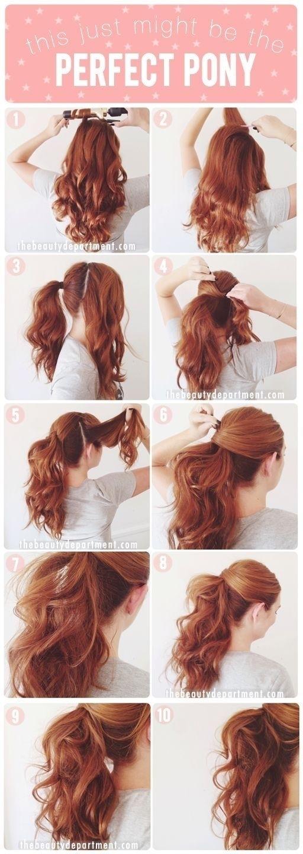 Các bước tạo kiểu tóc. (Ảnh: Internet)