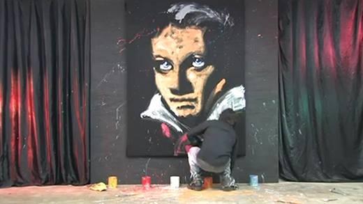 Chóng mặt với họa sĩ vẽ tranh