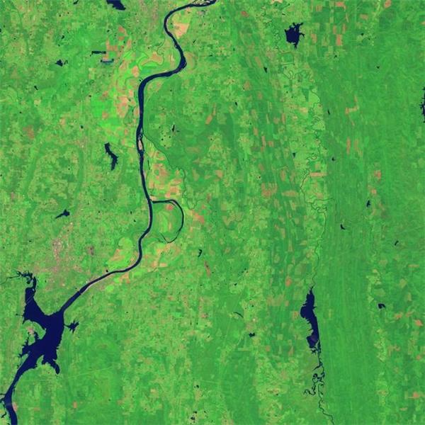 Sông Arkansas và công viên hoang dã Holla Bend Wildlife Refuge ở bang Arkansas, Mỹ.