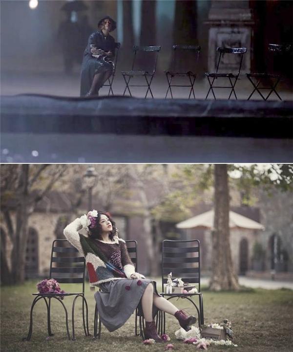 Thậm chí, nhiều cư dân mạng còn phát hiện ra cảnh quay trong The Danish Girl có sự tương đồng với một bộ ảnh của Chi Pu.