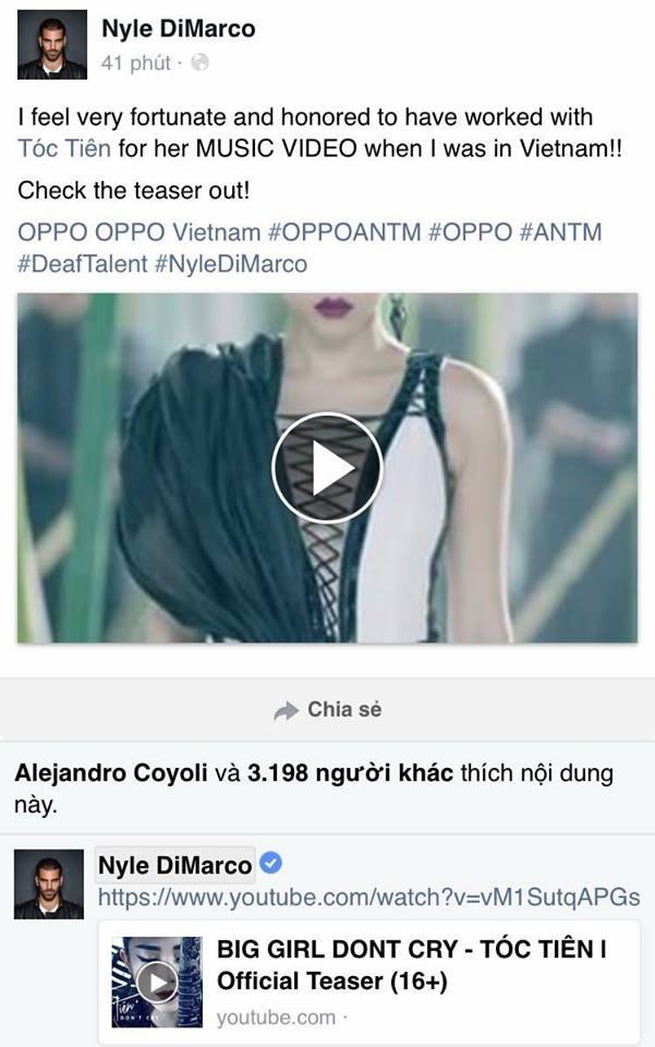 Dòng chia sẻ trên trang cá nhâncủa quán quânAmerica's Next Top Model mùa thứ 22. - Tin sao Viet - Tin tuc sao Viet - Scandal sao Viet - Tin tuc cua Sao - Tin cua Sao