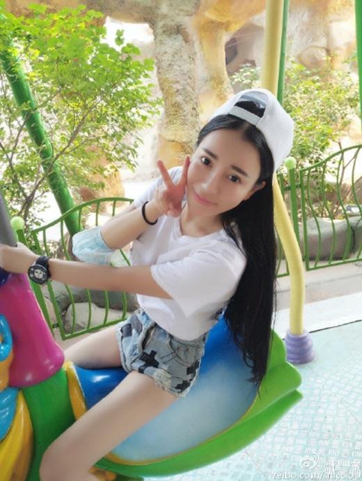 Hình ảnh đời thường đáng yêu của cô. (Nguồn Weibo)