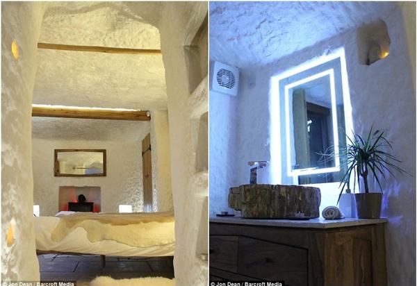 Ông Angelo cố gắng giữ lại những nét cơ bản nhất của hang động như bức tường đá thô, mái vòm cong… Đặc biệt là môi trường tự nhiên của khu rừng Wyre vẫn được gìn giữ, không bị xâm chiếm hay hủy hoại.(Ảnh: Daily Mail)