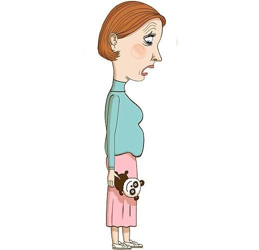 Đây là hiện tượng thường thấy ở các mẹ sau sinh.(Ảnh: Internet)