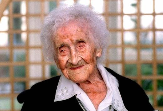 Cụ bà người Pháp Jeanne Cal vẫn đang nắm giữ kỉlục là người già nhất thế giới với 122 tuổi. (Ảnh: Daily Mail)