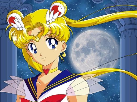 Thủy thủ mặt trăng:Khỏi nói cũng biết bộ phim hoạt hình này đã từng làm các em thiếu nhi thời đómê mẩn như thế nào với những yếu tố phép thuật đầy thu hút. (Ảnh: Internet)