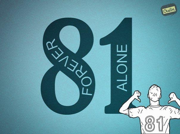 """Số 8 có hình dạng tương tự nhưdấu hiệu vô cực, có nghĩa là """"forever"""". Còn số 1, một phần nào đó mang ý nghĩa như một mình, hay còn là """"alone"""". Vậy, hội F.A còn chờ gì nữa mà không in áo số 81 đi nào."""