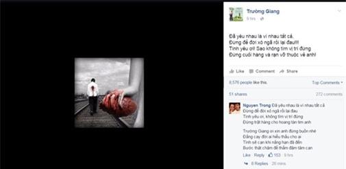 Bài đăng đầy tâm trạng của Trường Giang - Tin sao Viet - Tin tuc sao Viet - Scandal sao Viet - Tin tuc cua Sao - Tin cua Sao