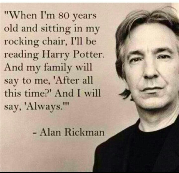 Alan Rickman luôn dành rất nhiều tình cảm cho đoàn làm phim Harry Potter.(Ảnh: Internet)