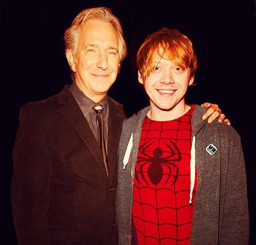 """Rupert Grint vô cùng đau buồn trước sự ra đi của """"Thầy Snape"""".(Ảnh: Internet)"""