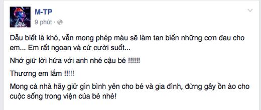 Những chia sẻ đầy cảm độngcủa Sơn Tùng. (Ảnh: Internet) - Tin sao Viet - Tin tuc sao Viet - Scandal sao Viet - Tin tuc cua Sao - Tin cua Sao